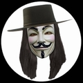12 x V WIE VENDETTA MASKE - ANONYMOUS - GUY FAWKES