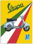 Vespa Blechschild Tricolore