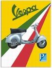 1 x VESPA BLECHSCHILD TRICOLORE ITALENISCHE FLAGGE