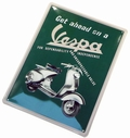 VESPA BLECHSCHILD GET AHEAD ON A VESPA