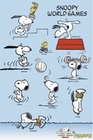 2 x PEANUTS SNOOPY WORLD GAMES - POSTER