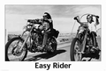 1 x EASY RIDER POSTER - DENNIS HOPPER & PETER FONDA