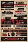 4 x FIGHT CLUB POSTER RULES