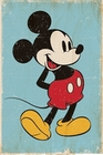 3 x MICKEY MOUSE POSTER RETRO BLUE