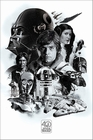 1 x STAR WARS 40TH ANNIVERSARY POSTER MONTAGE