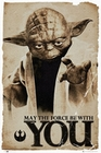 3 x STAR WARS POSTER YODA MAY THE FORCE BE WITH YOU