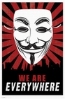 4 x V FOR VENDETTA POSTER MASKE WE ARE EVERYWHERE