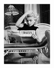 Marilyn Monroe Kunstdruck Motion Picture Daily b/w Foto