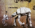 1 x BANKSY KUNSTDRUCK I AM YOUR FATHER STAR WARS