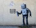 2 x BANKSY KUNSTDRUCK ROBOTER