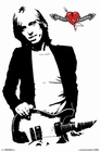 TOM PETTY POSTER BLACK AND WHITE