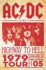 1 x AC/DC POSTER LIVE HIGHWAY TO HELL TOUR 1979