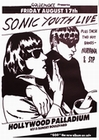 1 x SONIC YOUTH POSTER GOO-LIVE HOLLYWOOD PALLADIUM