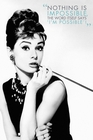 3 x AUDREY HEPBURN POSTER NOTHING IS IMPOSSIBLE..