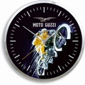 Moto Guzzi Wanduhr - schwarz