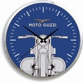 Moto Guzzi Wanduhr - blau