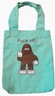 Amos - Fu** off Stofftasche - Trkis