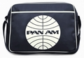 1 x LOGOSHIRT - PAN AM GLOBE TASCHE - DUNKELBLAU - FAKE LEATHER