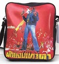 1 x SKYLINE TASCHE - 60S ACTION STAR - DUNKELBRAUN