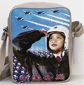 1 x SKYLINE TASCHE - RED ARMY PILOT - CREAM