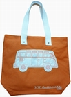 1 x VW BUS TASCHE - T1 - LEINEN ORANGE