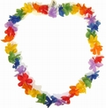 2 x 10 PARTY LEI BLUMENKETTEN