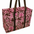 1 x SCHULTERTASCHE - PINK AND BROWN