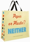 x PAPER OR PLASTIC? SHOPPER