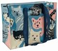 1 x SCHULTERTASCHE - HAPPY CATS