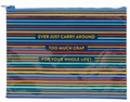 1 x ZIPPER TASCHE - TOO MUCH CRAP