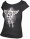 x TOXICO SHIRT - PIN UP ANGEL BLACK - GIRLS