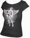 x TOXICO SHIRT - PIN UP ANGEL BLACK - GIRLS