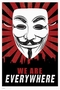 x V FOR VENDETTA POSTER MASKE WE ARE EVERYWHERE