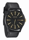  x THE SENTRY LEATHER - MATTE BLACK / GOLD - NIXON UHR