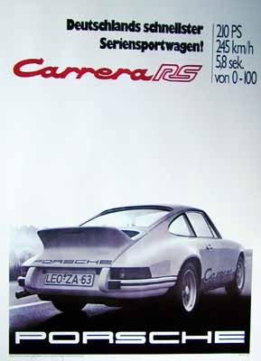 Porsche Poster - Porsche Carrera RS