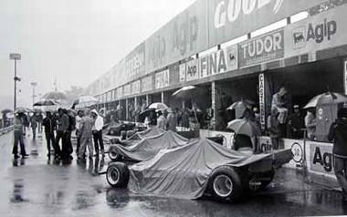 GP Italien 1976. Ferrari 312T. Regazzoni, Reutemann und Lauda. Poster