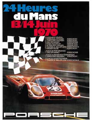 Porsche Rennplakat - Poster