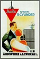 Audi 8-Zylinder Werbung Poster