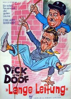Dick und Doof Lange Leitung - Poster - Filmplakat