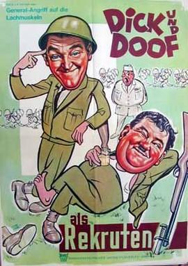 Dick und Doof als Rekruten - Poster - Filmplakat