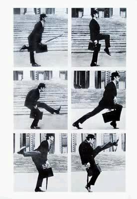 Monty Python - Silly Walk - Poster