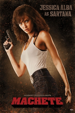 Machete Poster Jessica Alba as Sartana