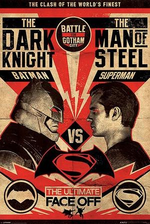 Batman vs Superman Poster Fight