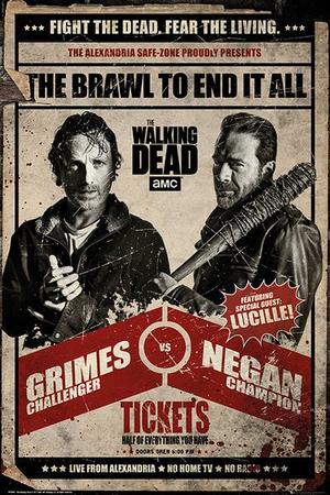 The Walking Dead Poster Grimes vs Negan Fight