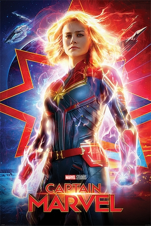 Captain Marvel Poster Higher, Further, Faster