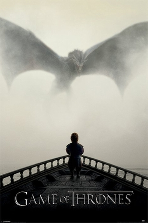 Game of Thrones Poster A Lion & A Dragon