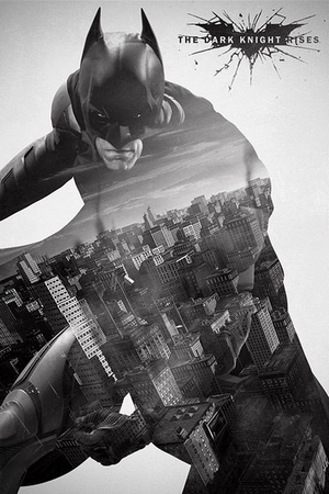 Batman - The Dark Knight Rises Poster Gotham City