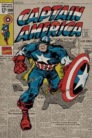 Captain America - Marvel Comics - Poster