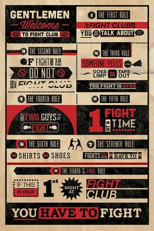 Fight Club Poster Rules
