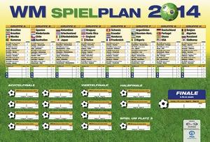Fussball WM Brasilien Spielplan 2014 Riesenposter